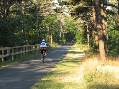 Bicycling on the Cape Cod Rail Trail Near Nickerson Park