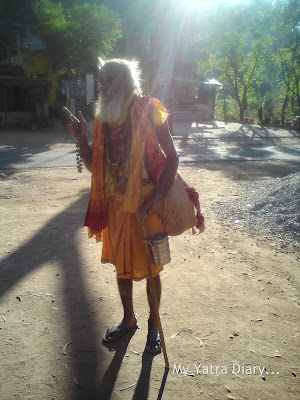 A sage on a Char Dham padyatra in Garhwal Himalayas, Uttarakhand