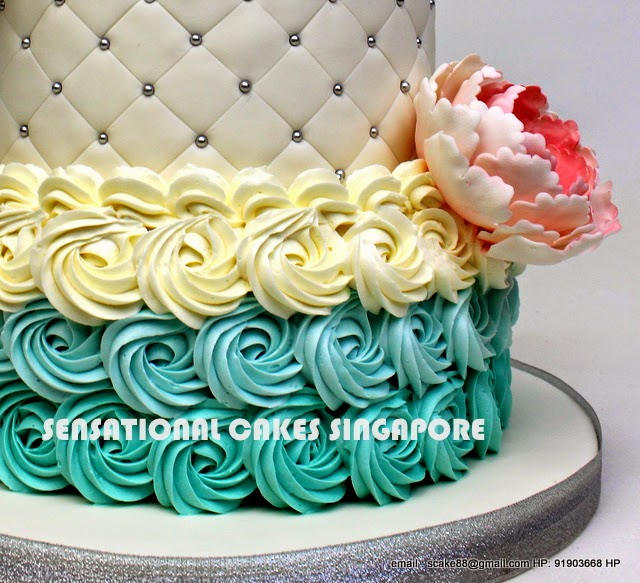 Cakes2share Singapore Pastel Blue 3 Tier Cake Singapore