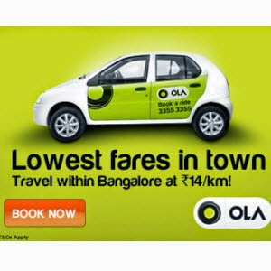 Ola cabs:50% OFF on all your Ola rides [Valid for Nagpur, Nashik, Aurangabad ]