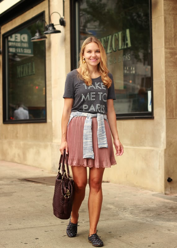 The Steele Maiden: Old Navy graphic tee and printed oxfords
