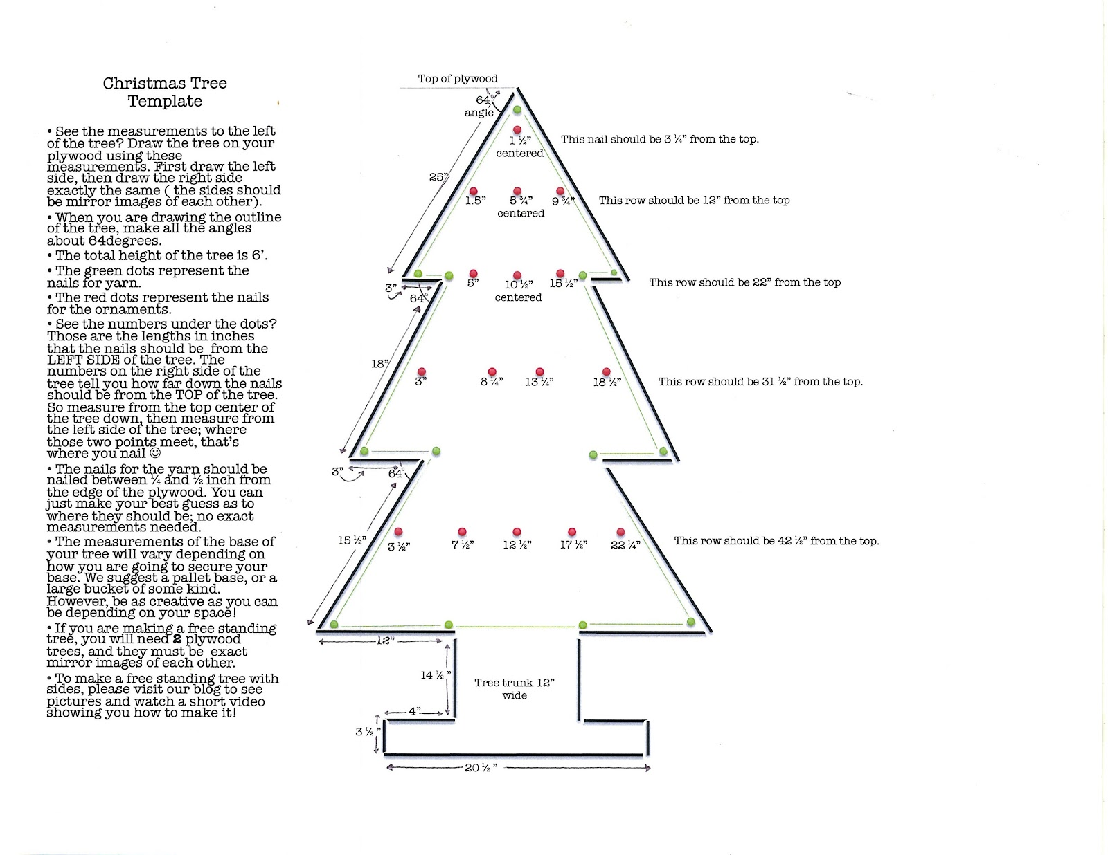 Glory haus blog plywood christmas tree how to for Plywood christmas tree