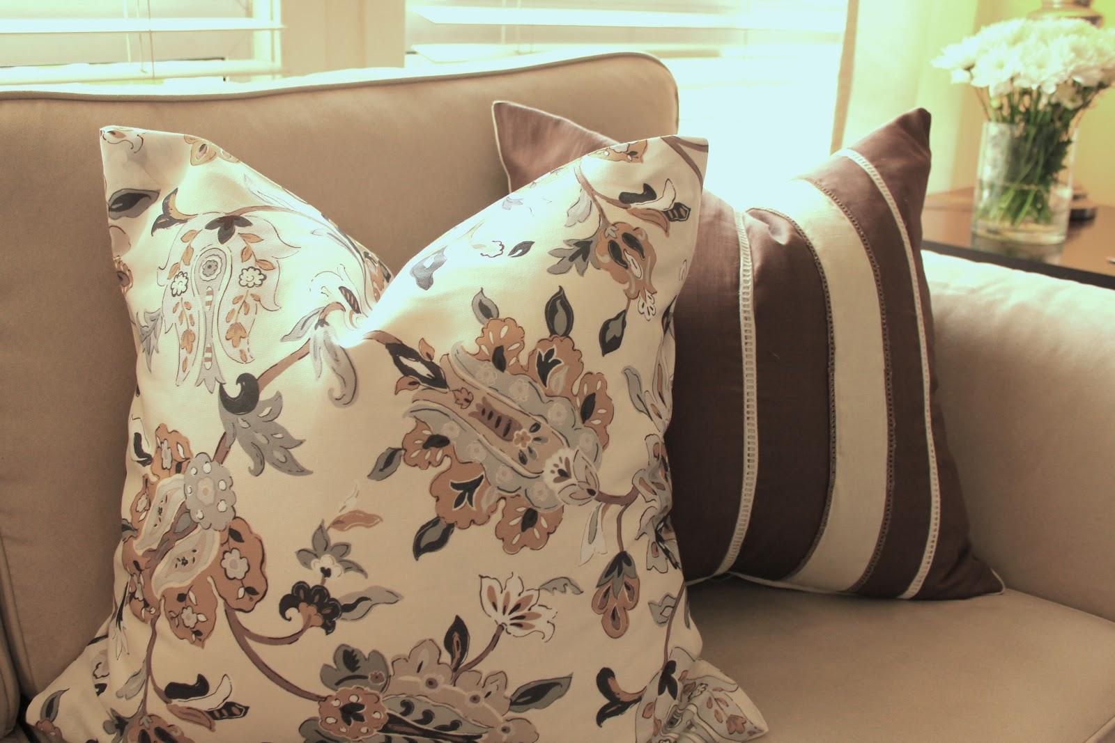 & Cup Half Full: DIY - No Sew Throw Pillows pillowsntoast.com