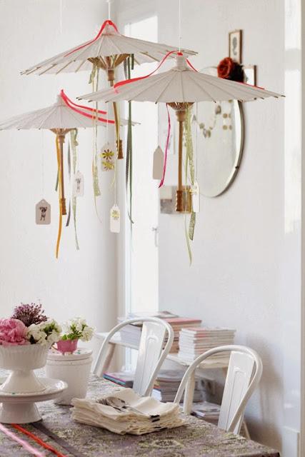 DIY Sombrillas para decorar una fiesta. Party Decorating