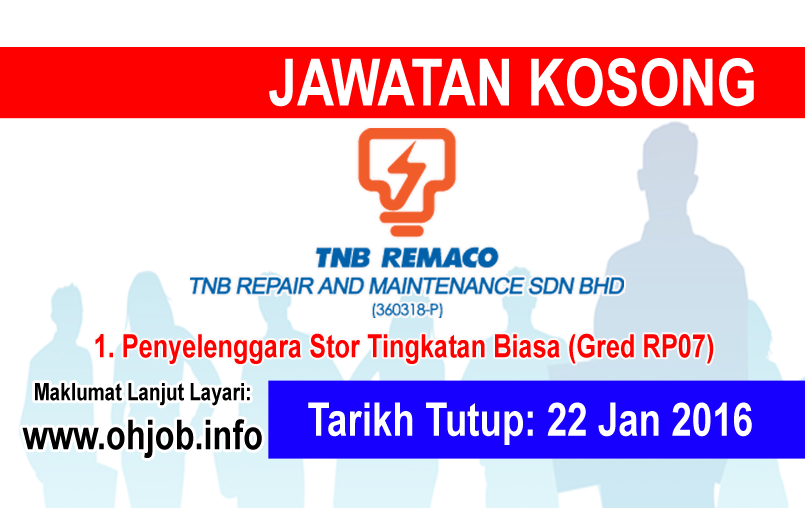 Jawatan Kerja Kosong TNB Remaco logo www.ohjob.info januari 2016
