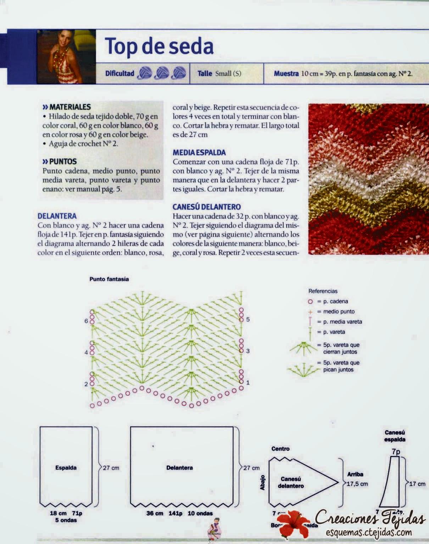 Top de Seda a Crochet