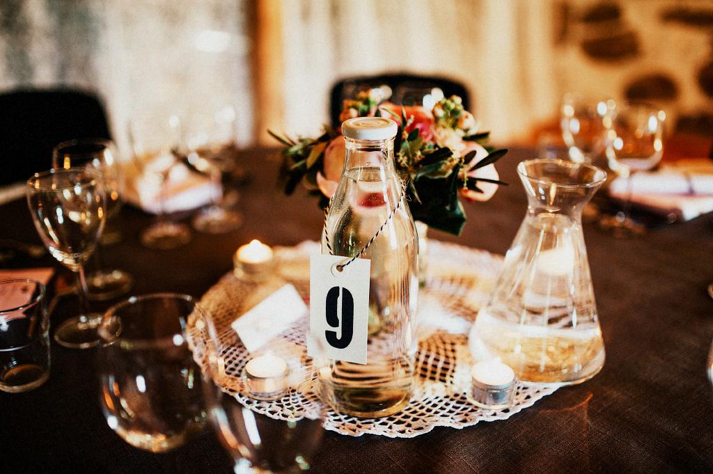 Bröllop detalj dukning Laholm