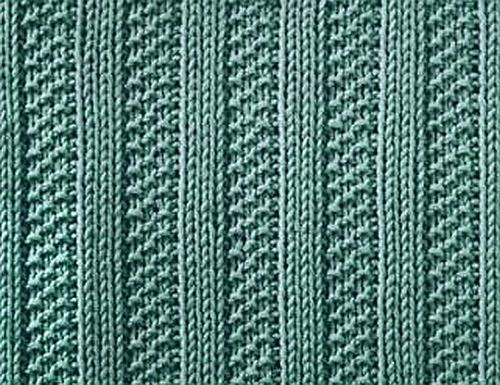 Knitting Galore: Saturday Stitch : Moss Stitch Ribs