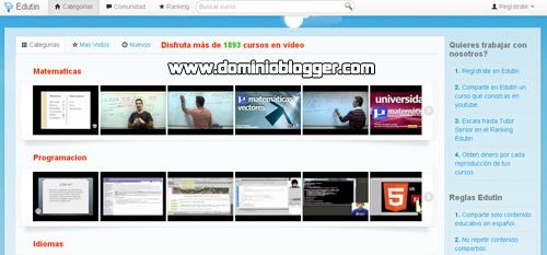 cursos y tutoriales online en videos gratis en Edutin