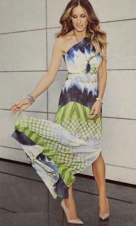 vestido longo e colar de pedra ágata Maria.Valentina outono inverno 2014