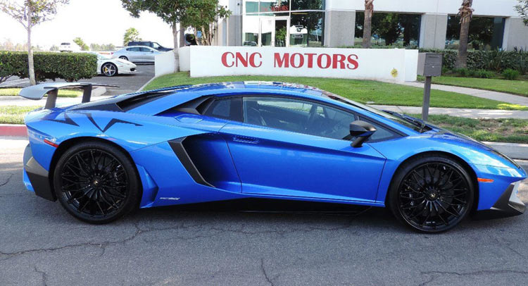 bright blue lamborghini aventador sv hits the market in california