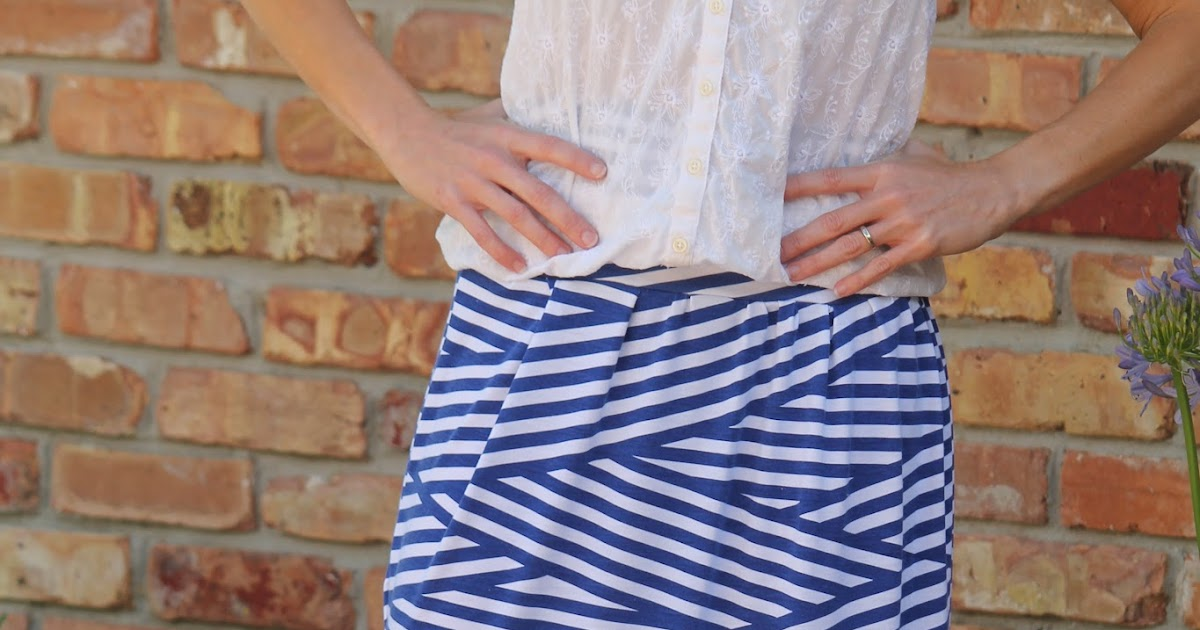 Seamingly Smitten: Knit Maxi Skirt Sewing Pattern for Women - Womens Max...