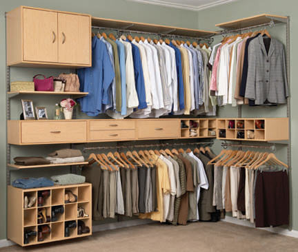 Guarda roupa masculino - Rieles para baldas extraibles ...