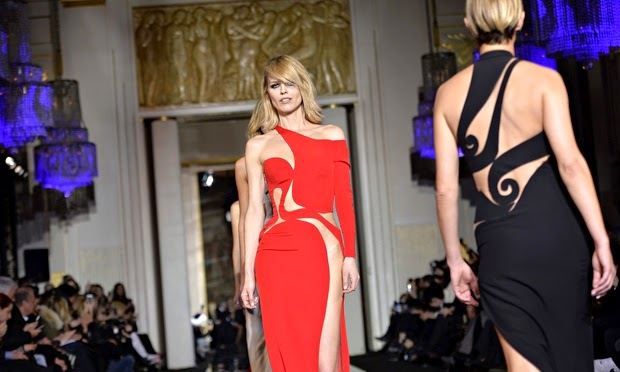Versace spring summer couture 2015 red & black