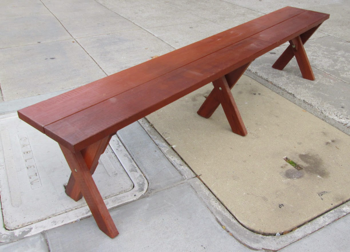Uhuru Furniture Collectibles Sold Long Wood Bench 45