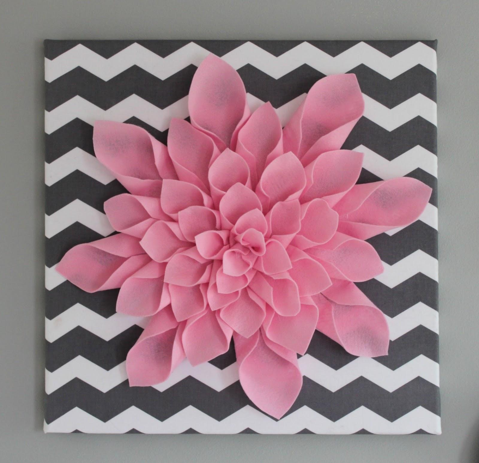 Diy Canvas Art All Things Diy Chevron Flower Canvas Art