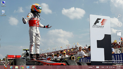 Fernando Alonso Formula 1 Windows 7 Theme