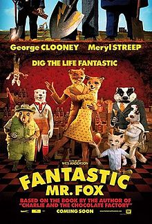 Film poster for The Fantastic Mr. Fox disneyjuniorblog.blogspot.com