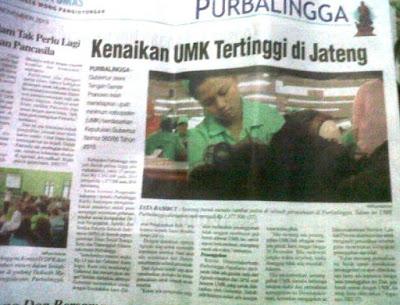 Penetapan UMK (Upah Minimum Kabupaten/Kota) di Jawa Tengah Tahun 2016