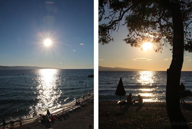 Sonnenuntergang Baska Voda - Kroatien