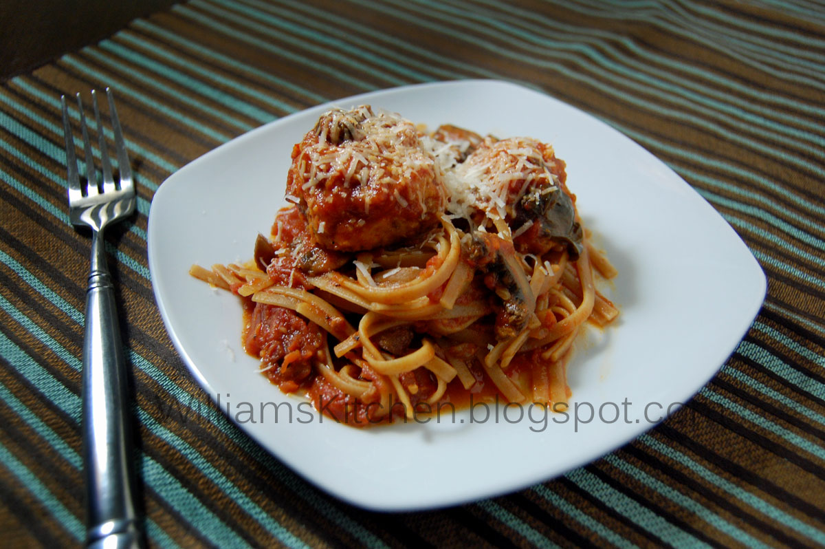 "... - Made with love: Cannellini Bean ""Meatballs"" with Tomato Sauce"