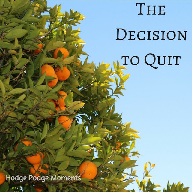 Personal Moment: The Decision to Quit