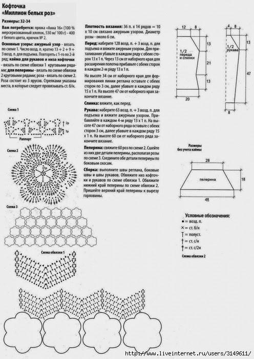 ergahandmade  crochet sweater   diagrams