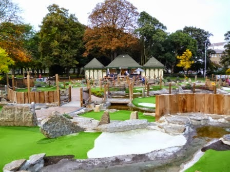 The Putt in the Park course at Wandsworth Park. A similar layout is being built in Battersea Park