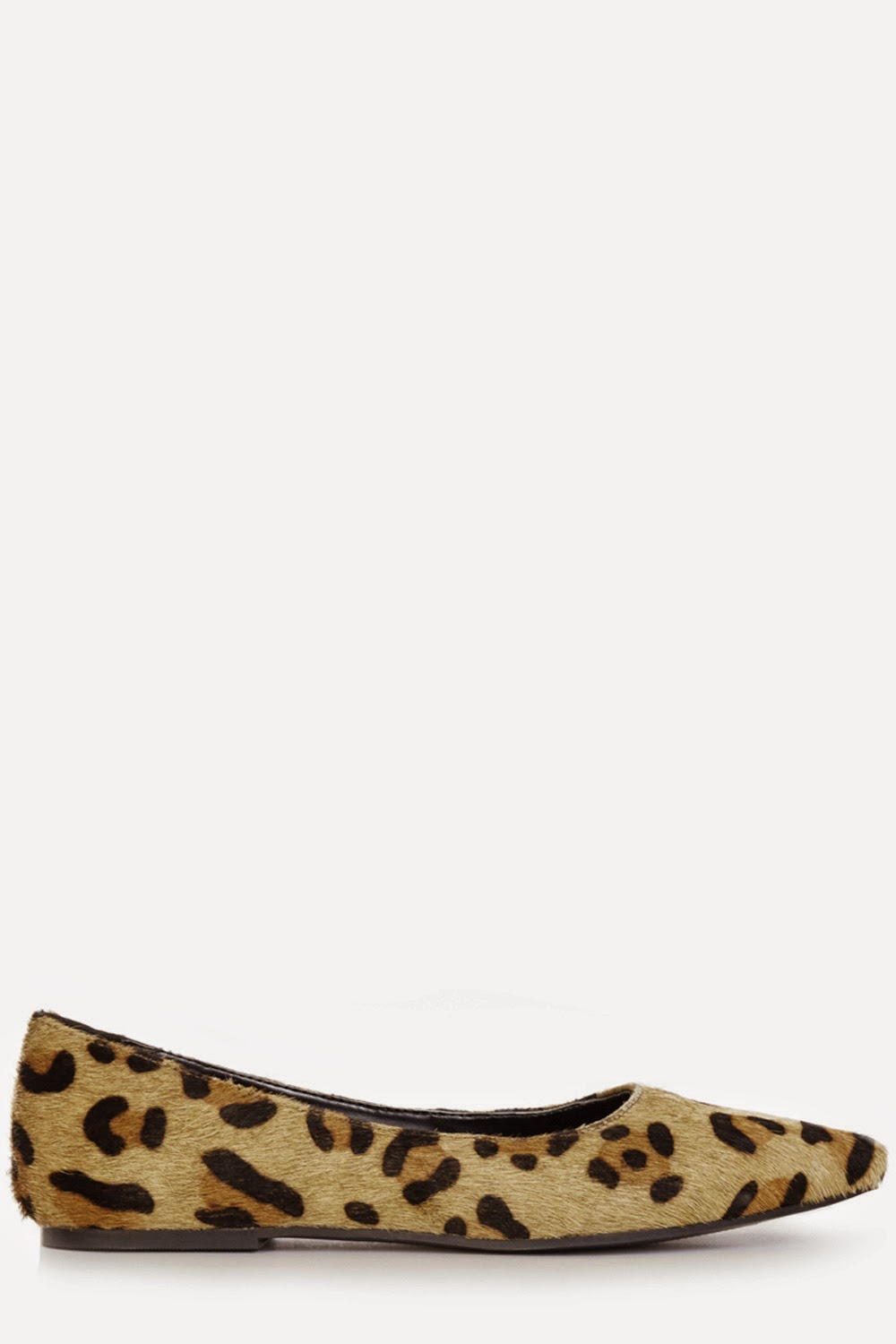leopard pointed flats,