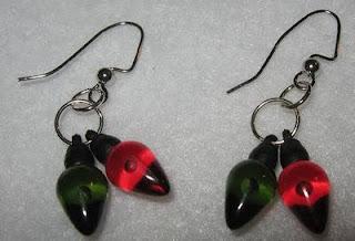 crafty jewelry: christmas earrings