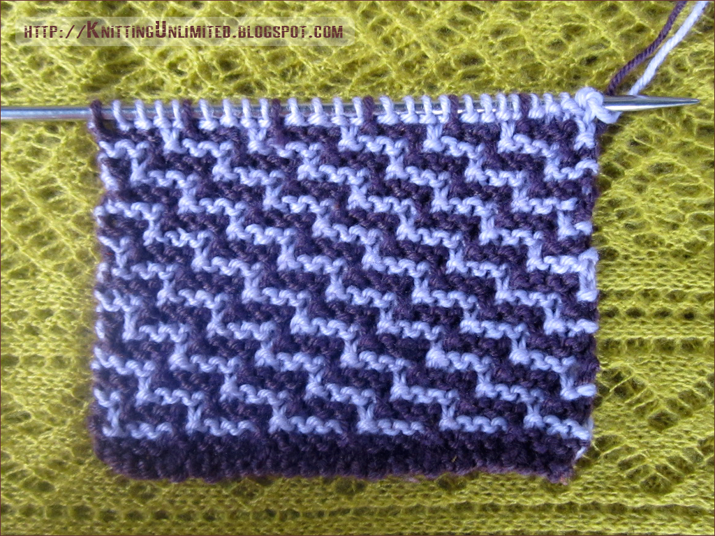 Staircase slip stitch pattern is all garter stitch