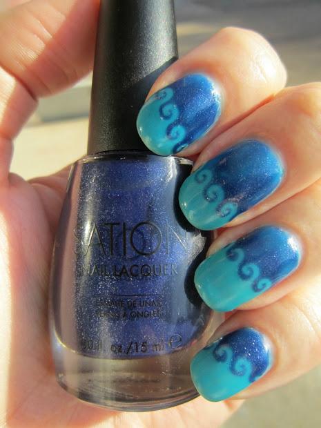 concrete and nail polish sation