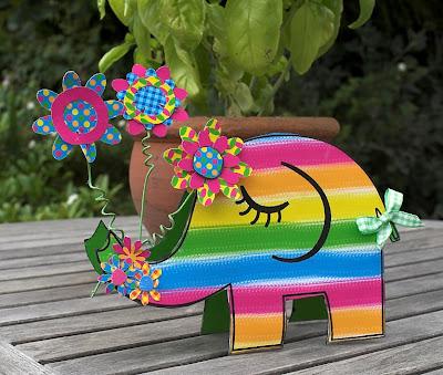 Szivárvány elefánt