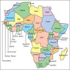 Mapa de África Continente