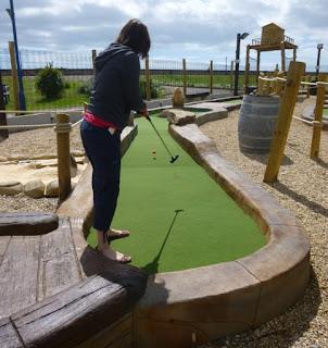 Adventure Golf course at Funder Park in Dawlish Warren