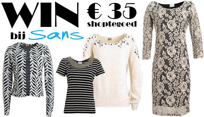 Winactie Win 35 euro shoptegoed bij Sans Online