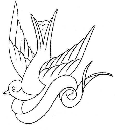 Swallow Tattoo Line Drawing : Birds tattoos for you sparrow tattoo pics