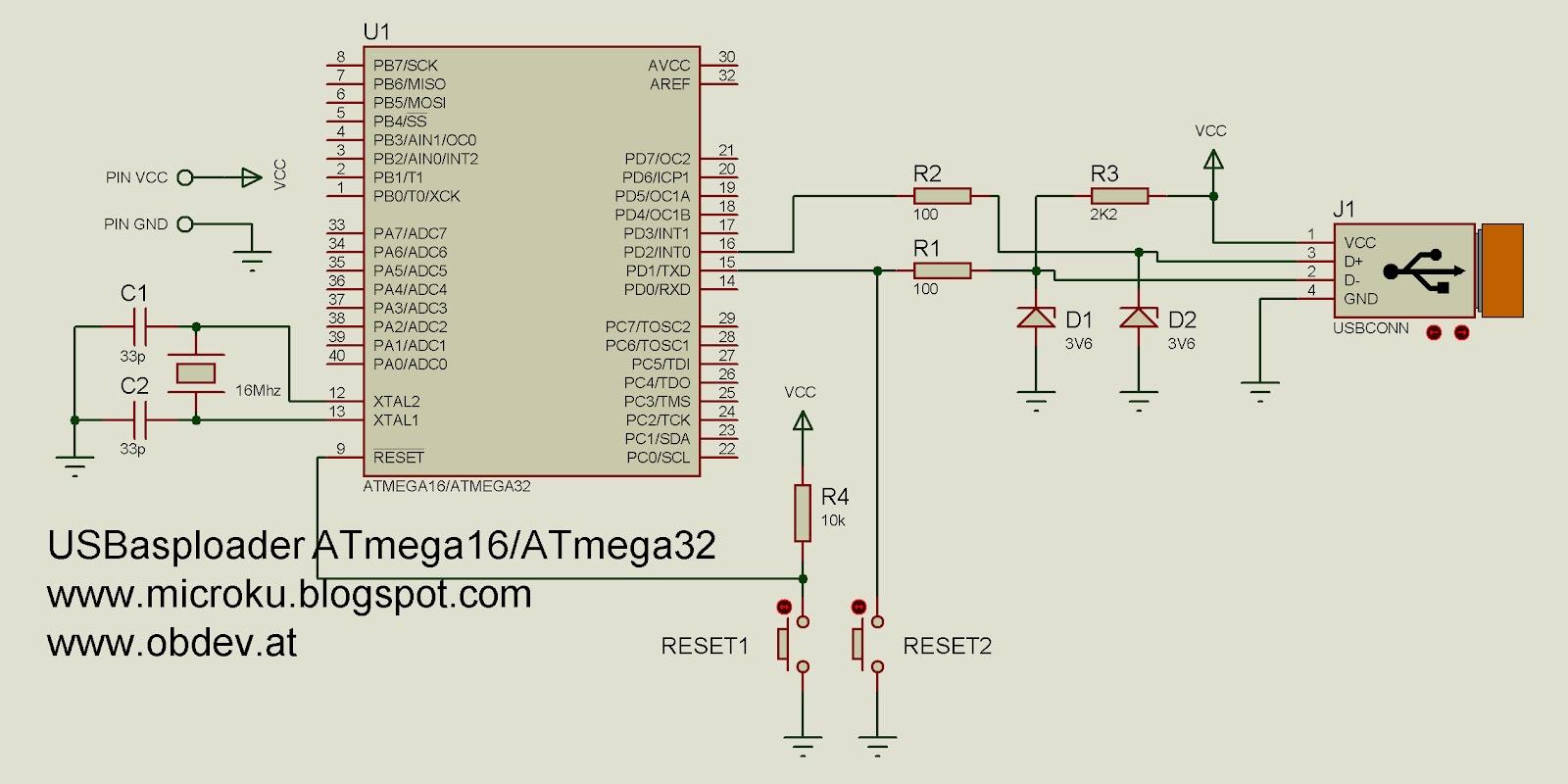 Sekedar Catatan Kecil Inject Usbasp Langsung Pada Avr Atmega32 Ic Atmega328 Atmega 328 Sudah Bootloader Arduino Implementasi