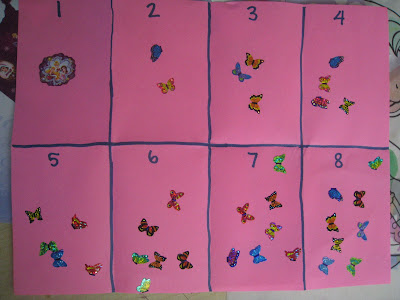 counting and math with stickers