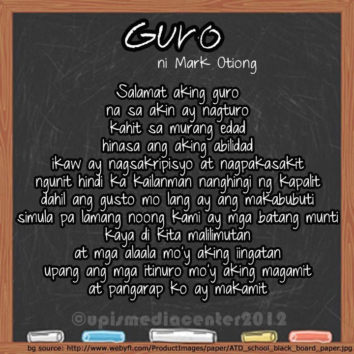 ang guro Title: ang guro( sa panulat at direksyon ni paul m ballano) i:  characters teachers: a ms amelia resontoc b ms palafox c mr  taluctoc d.
