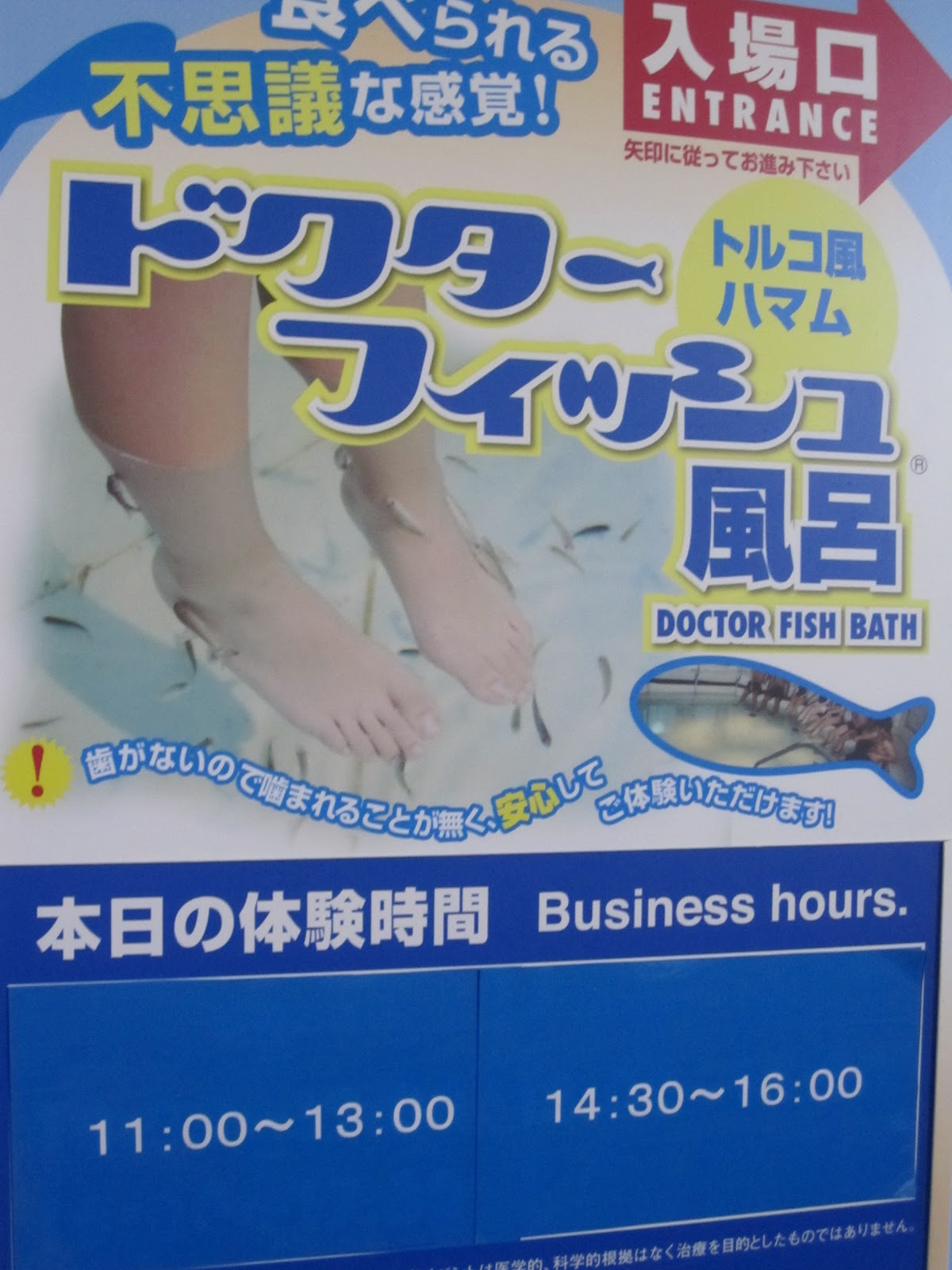 Bedford adventures in japan and back again fish pedicure for Fish pedicures illegal in 14 states