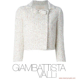 Crown Princess Victoria Style GIAMBATTISTA VALLI Cropped Jacket
