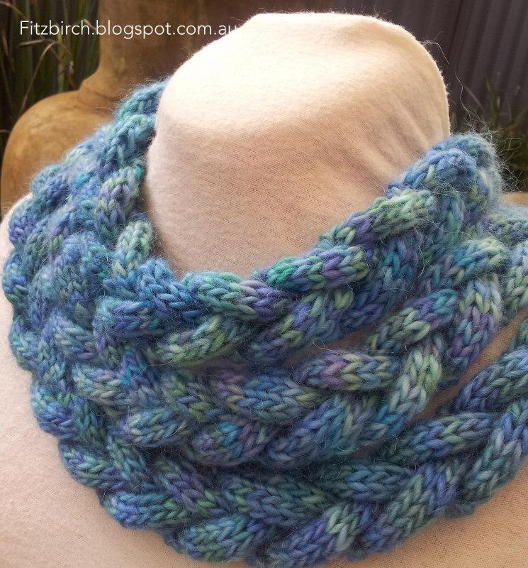 Braided Cowl Knitting Pattern : FitzBirch Crafts: Braided Cowl