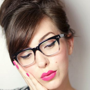 magical beauty makeup for girls with glasses