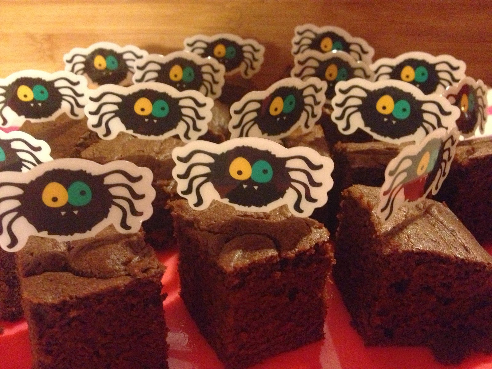 gluten free halloween brownies