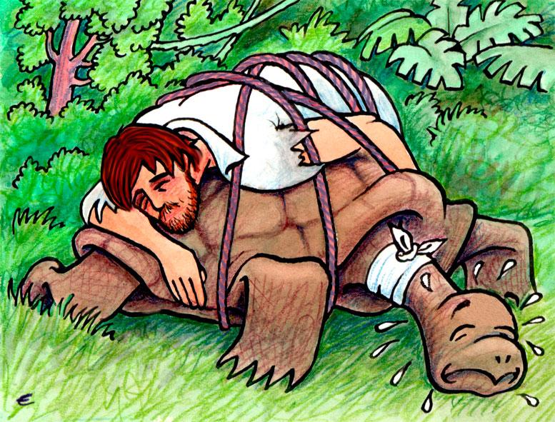 Hombres en cuentos de pantimedias