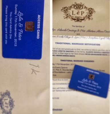 peter okoye wedding iv card