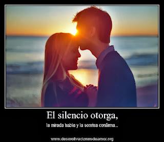 Frases De Amor: El Silencio Otorga La Mirada Habla Y La Sonrisa Confirma