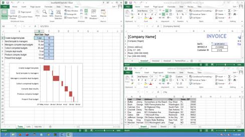 Cách mở nhiều Table cạnh nhau trong Excel 2013 1
