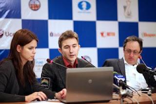 Échecs : Sergey Karjakin (2775) et Boris Gelfand (2751) ont annulé lors de la ronde 9